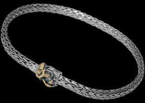Gold and Sterling Silver Bracelets B1803 - Dragon Spring Lock Clasp