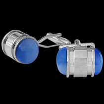 Stainless Steel Blue Resin Cufflinks STC200