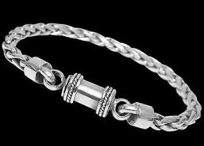 Sterling Silver Bracelets B677B - Barrel Clasp - 4mm
