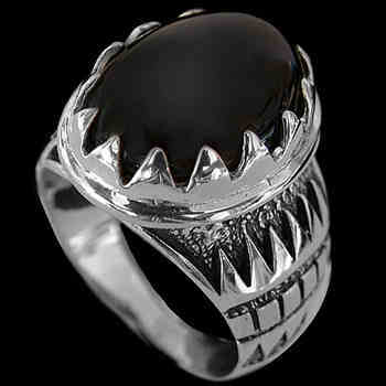Men's Jewelry - Onyx and Sterling Silver Rings R689