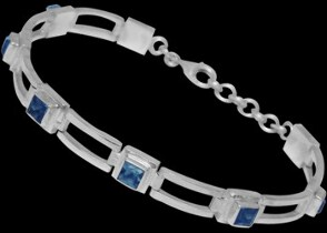 Gemstone Jewelry - Topaz and Sterling Silver Bracelets B16