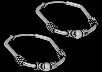 Sterling Silver Earrings E4036 - .925 Hoop Earrings