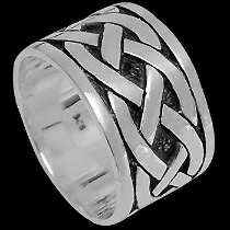Celtic Jewelry - .925 Sterling Silver Rings CR410 - Woven Celtic Braid Bands