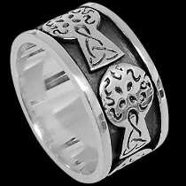 Celtic Jewelry - .925 Sterling Silver Rings R100 - Celtic Bands