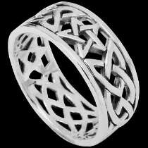 Gothic Jewellery - .925 Sterling Silver Rings R767-39 - Star Band