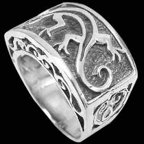 Gothic Jewellery - .925 Sterling Silver Rings R1365 - Gecko Bands