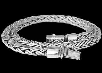 Men's Necklaces - .925 Sterling Silver Necklaces N193 - Security Clasp - 7mm
