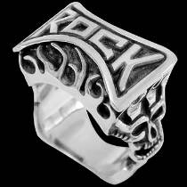 Gangster Jewelry - .925 Sterling Silver Rings R1709 - Rock On Fire