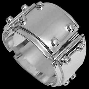 Groomsmen Jewelry - .925 Sterling Silver Wedding Rings R1-10050