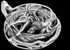 Jewelry - Sterling Silver Dragon Pendants RCK3013