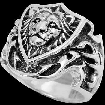 .925 Sterling Silver Lion Knight Rings R292