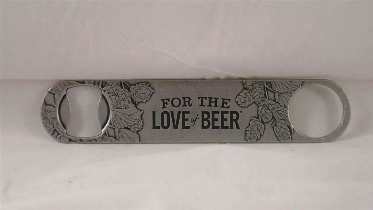 Samuel Adams For The Love of Beer Paddle Bottle Opener Bar Key Pewter