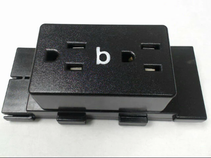 Herman Miller A1311.B Cubical Panel Duplex Receptacle AO Series Dark Tone