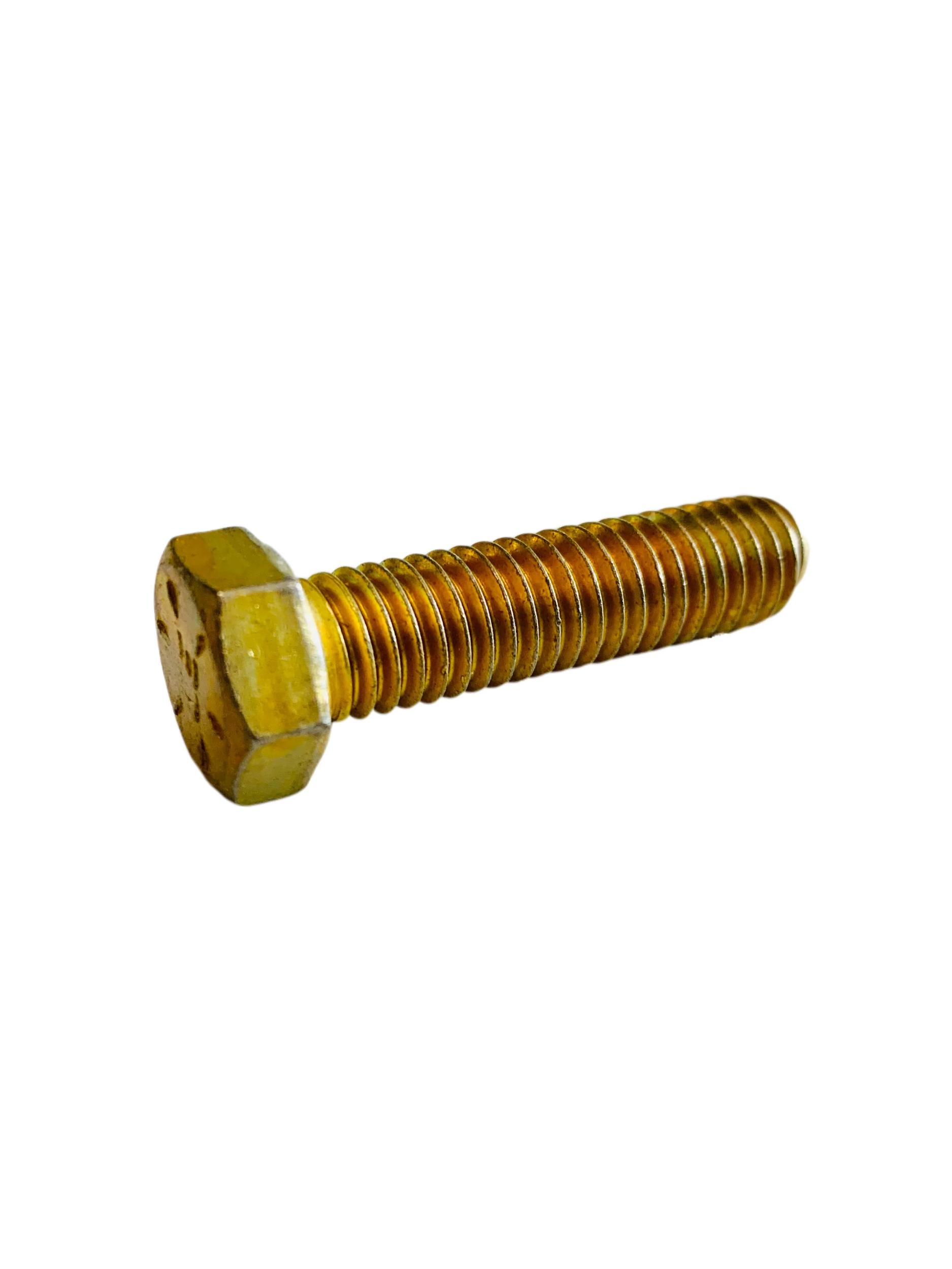 """40 Hex Head 3//8-16 x 4-3//4/"""" Grade 8 Bolts Yellow Zinc Cap Screws"""