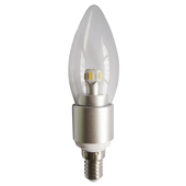 NEW CLA 4W E14 Warm White LED Dimmable Clear Candle Globe - 3000K - CAN3D