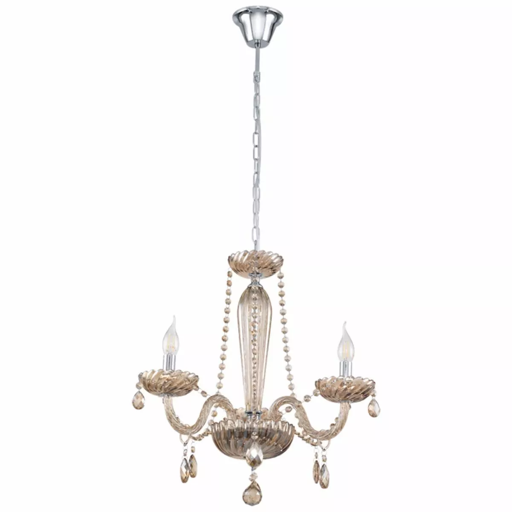 chrome crystal beaded zoom chandelier light pendant shade item with drum