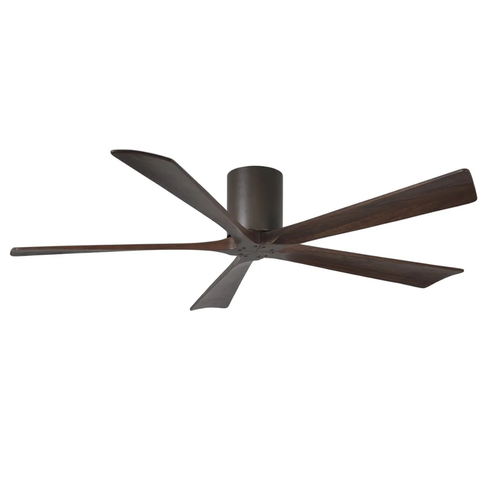 New Atlas Irene 5 Hugger Dc 60 Low Profile Timber Ceiling Fan With Remote