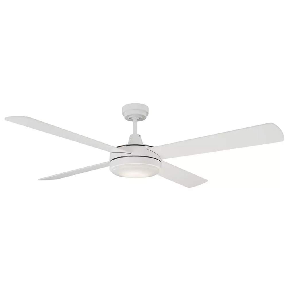 New Mercator Luna 52 Slimline Ceiling Fan With Timber Blades 20w Led Light