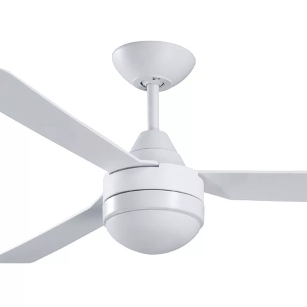 New ventair manzer ii 48 abs 3 blade modern white ceiling fan with new ventair manzer ii 48 abs 3 blade modern white ceiling fan with light aloadofball Image collections