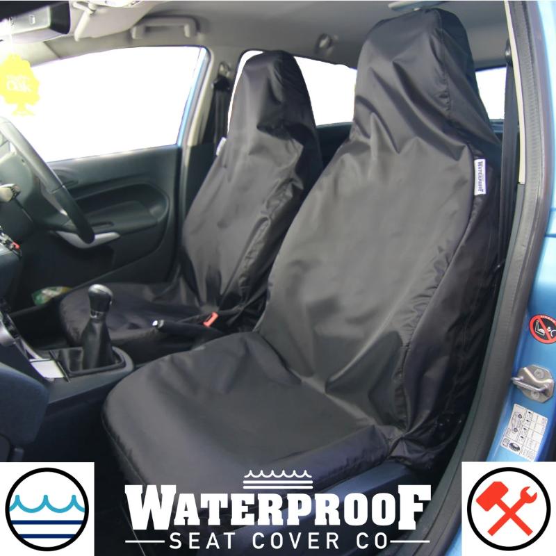 FORD FIESTA MK5 MK6 MK7 Heavy Duty Black Waterproof Single Seat Cover 1 x Front