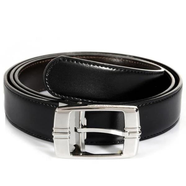 Cintura uomo elegante art:934563e vera pelle nero lucido