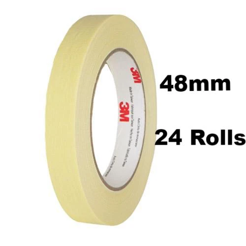 "2/"" HI-TEMP 5 X ROLLS TRADE QUALITY AUTOMOTIVE SPRAYPAINTERS MASKING TAPE 48MM"
