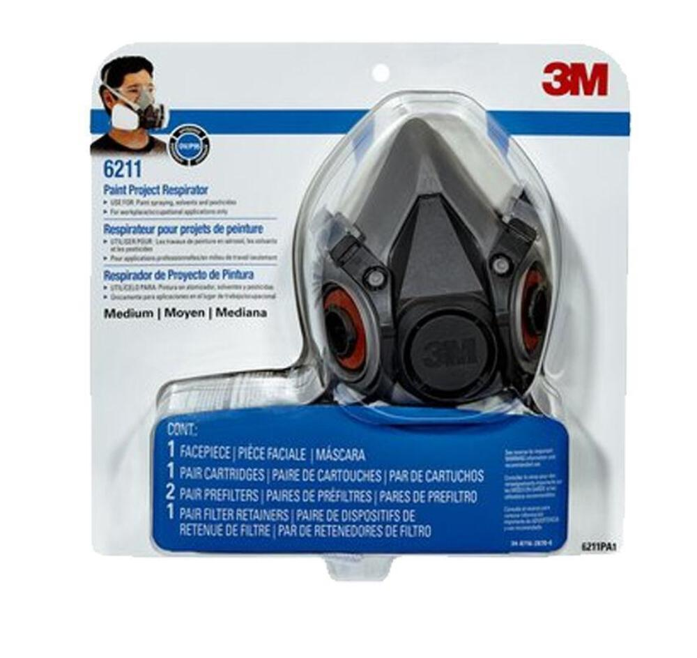 R6211 Safety Paint Respirator Medium Reusable About Details Mask 3m