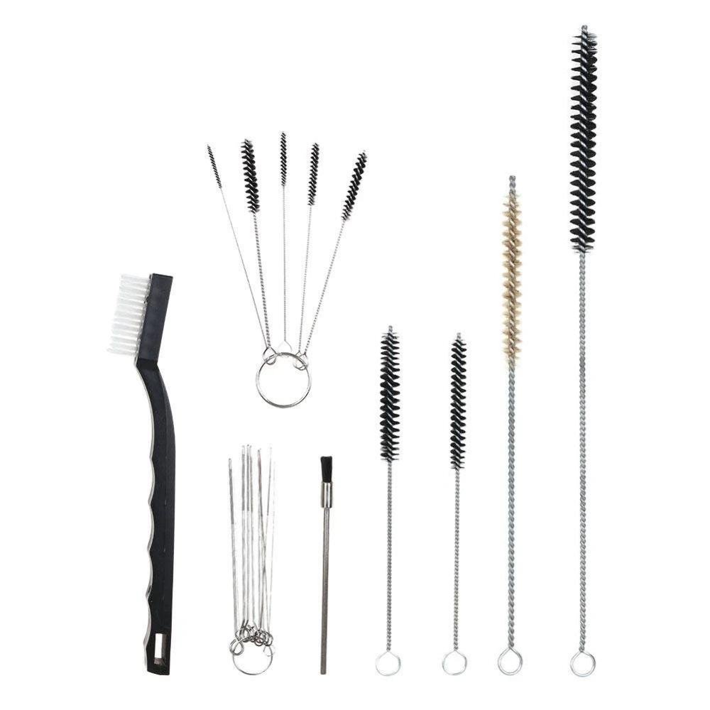 Details about 17 Piece Spray Gun Cleaning Kit Clean Set Rifle Pistol Paint  Air Brush