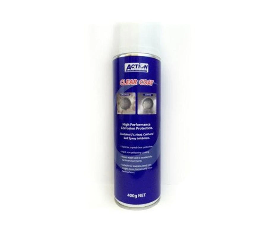 Details about Clear Coat Aerosol Spray Corrosion Penetrating Rust Sealer  All Metals 350g