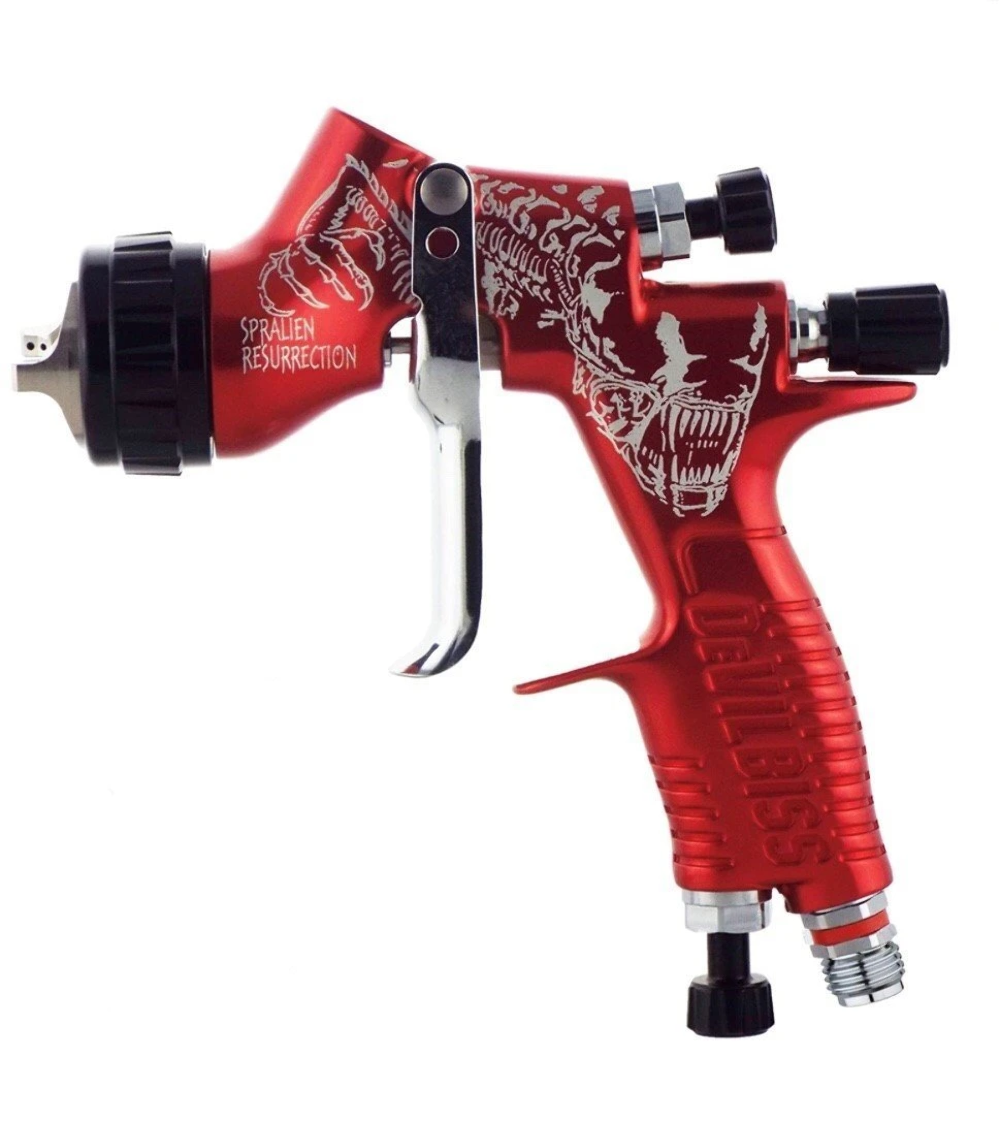 Details about Devilbiss GTI Pro Lite Limited Edition Black Day Of The Dead  Spray Gun TE20