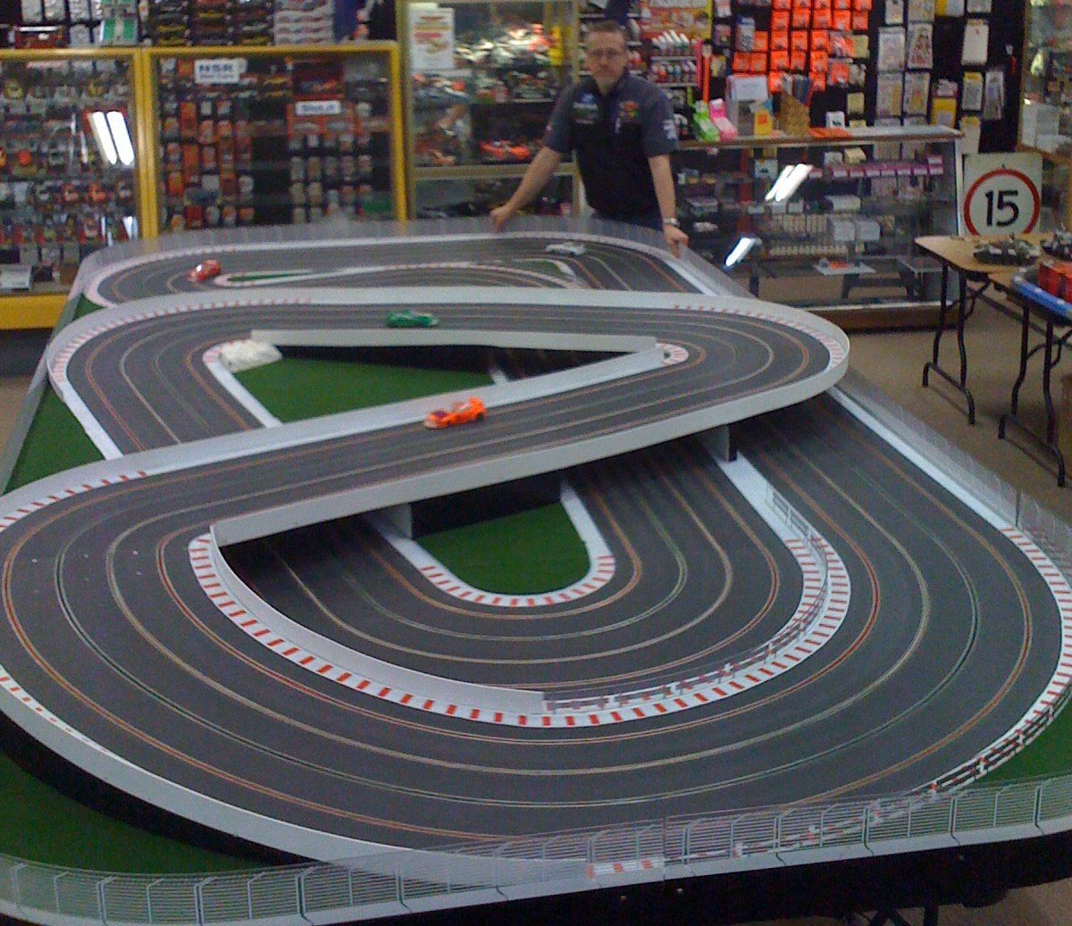 We had a 8' x 16' 4 Lane circuit built to our design.