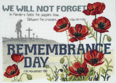 Remembrance Day counted creoss stitch kit A$52.80 (+tax)