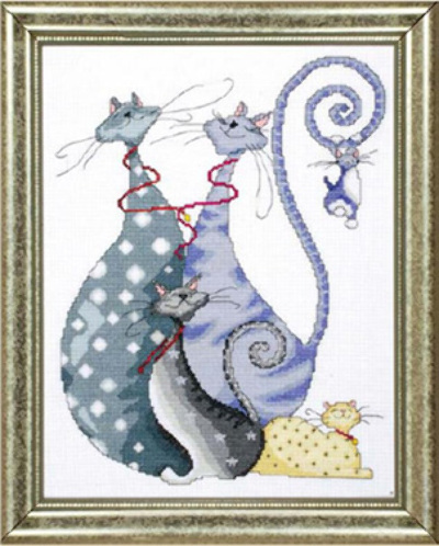 """Cat Pack"" counted cross stitch kit A$40.00 (+tax)"