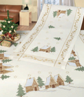 Christmas Scenery Table Cloth