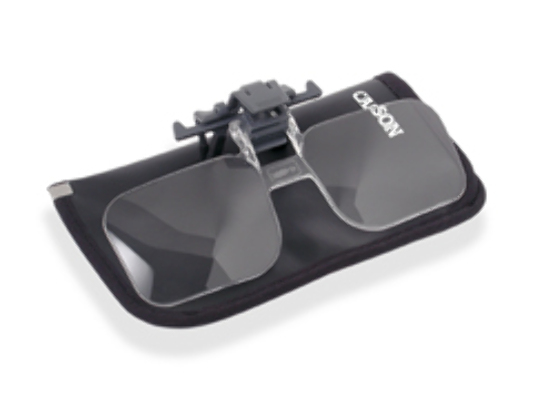 Clip & Flip Magnifier - Clip-On, Flip-Up magnifying reading & hobby glasses - Priced at AU15.00 + GST