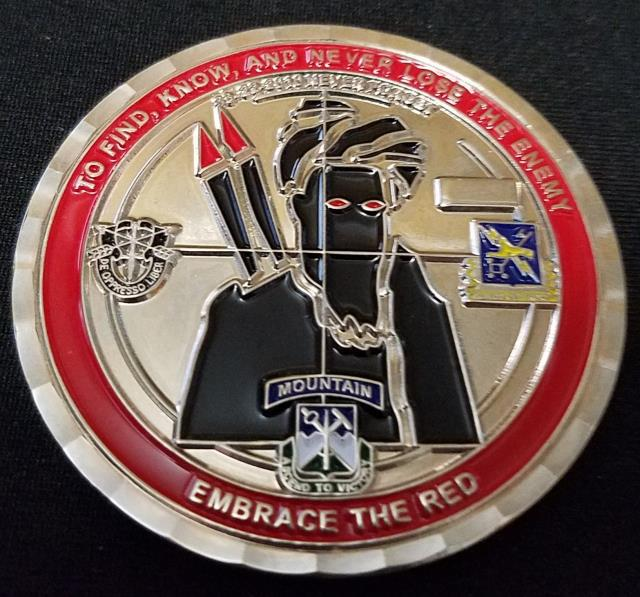 TF Bayonet 65th EN BN Command Team OEF Current Deployment Challenge Coin