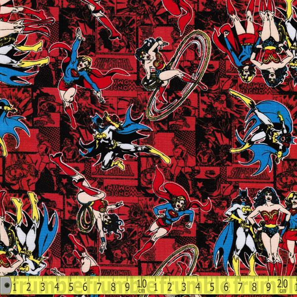 Camelot Fabric Marvel Comics II Action In Black HALF METRE