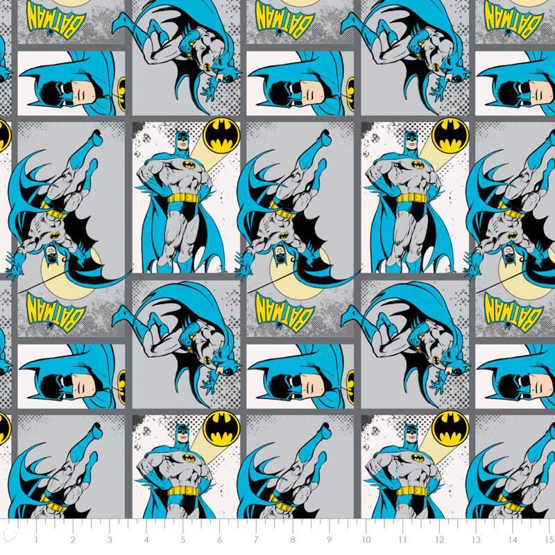 Camelot Fabric DC Comics II Villains in Royal HALF METRE