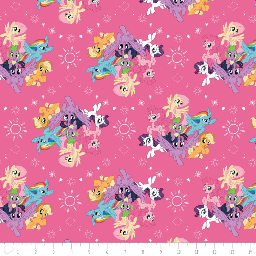 Camelot Fabric My Little Pony Twilight Sparkle In Navy HALF METRE