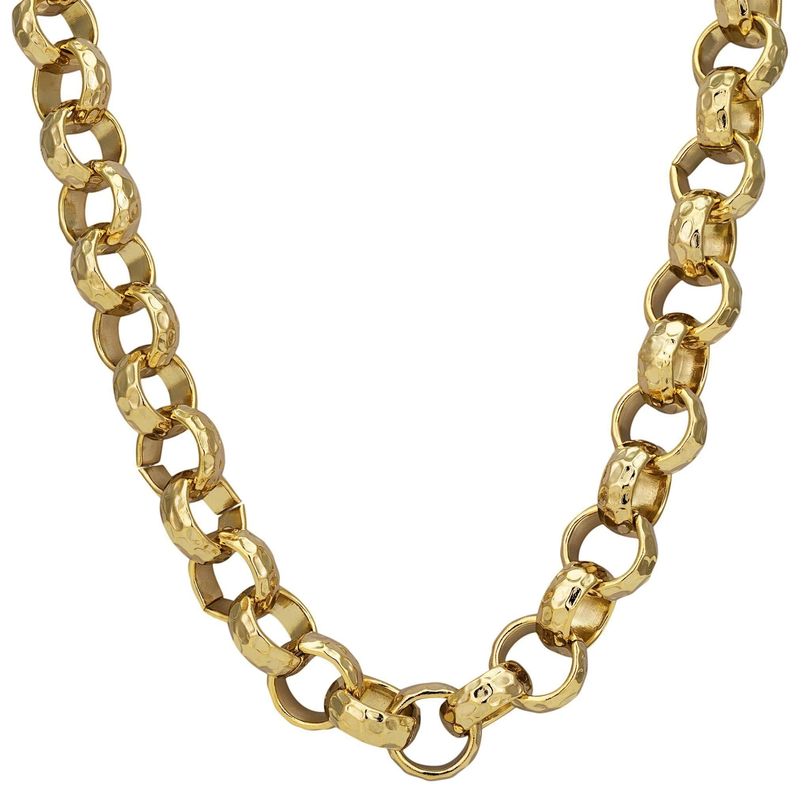 78d74598087a Details about Mens BEAUTIFUL STUNNING 9ct Yellow Gold gf Belcher Necklace  Chain 12mm Links