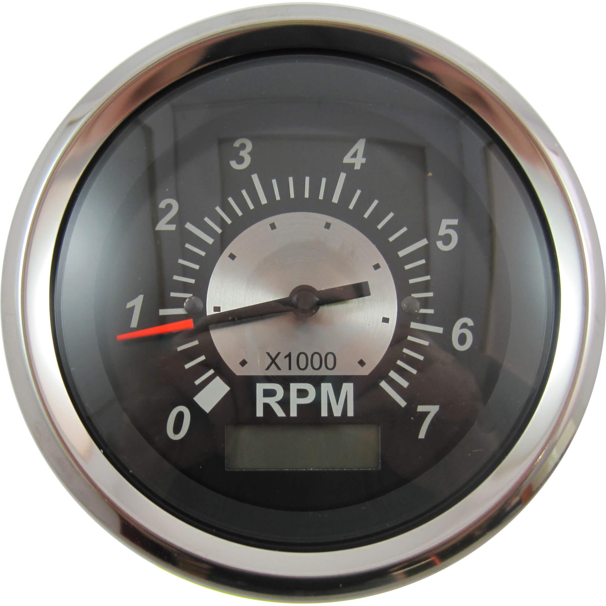 Sierra 67364P Black Sterling Tachometer With Hour Meter 7000 RPM