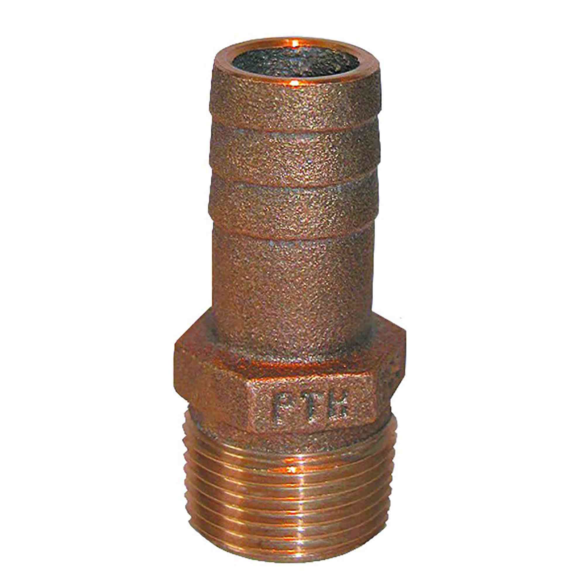 "Groco Full Flow 1-1//4/"" NPT X 1-1//2/"" Hose Barb 90 degree Elbow FFC-1250"