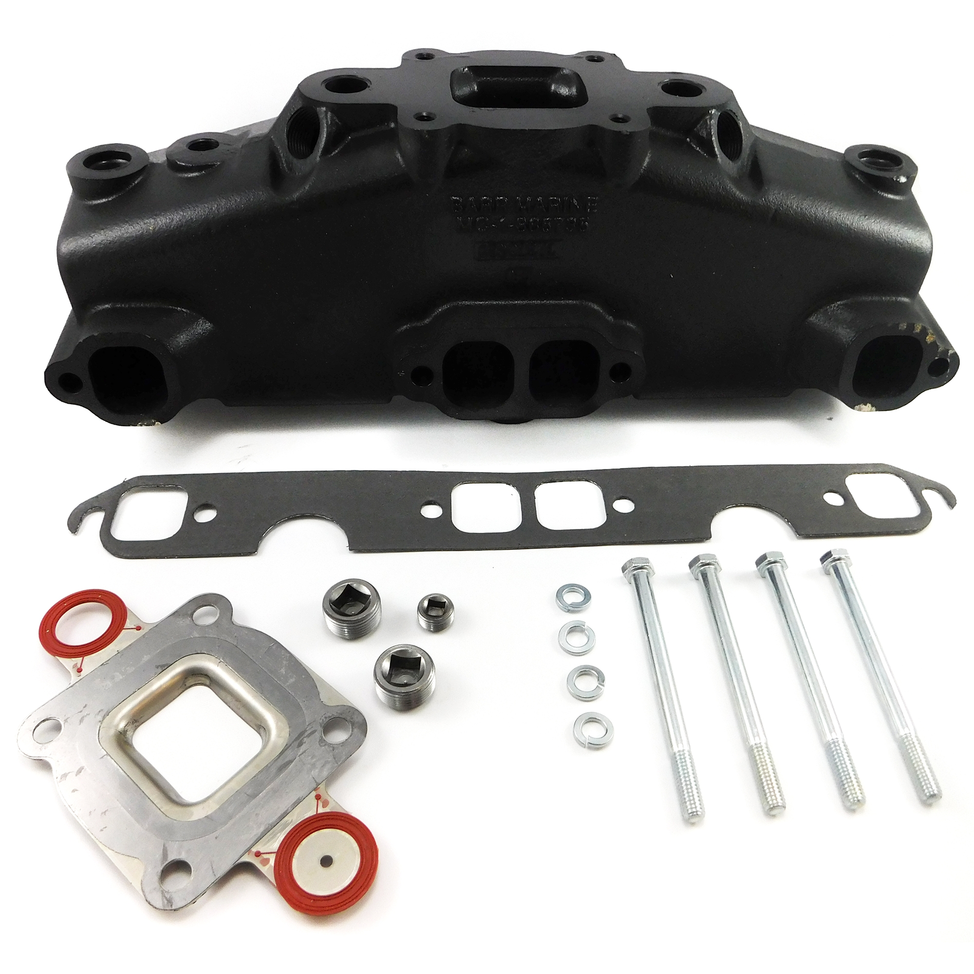Dry Joint Exhaust Manifold 5.0L 305CI to 5.7L 350CI Mercruiser Style