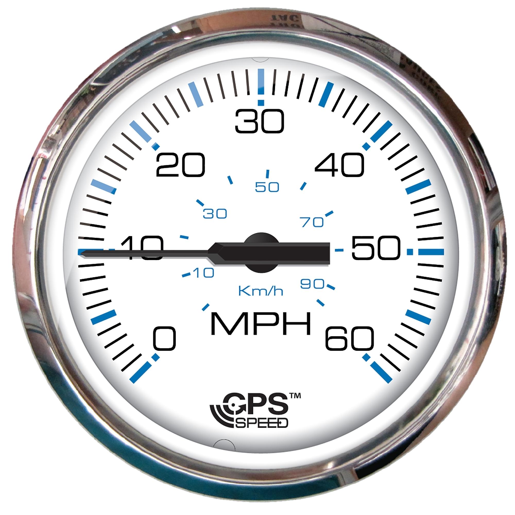 Mechanical 60MPH Faria Beede Instruments Faria Chesapeake Black SS 4 Speedometer