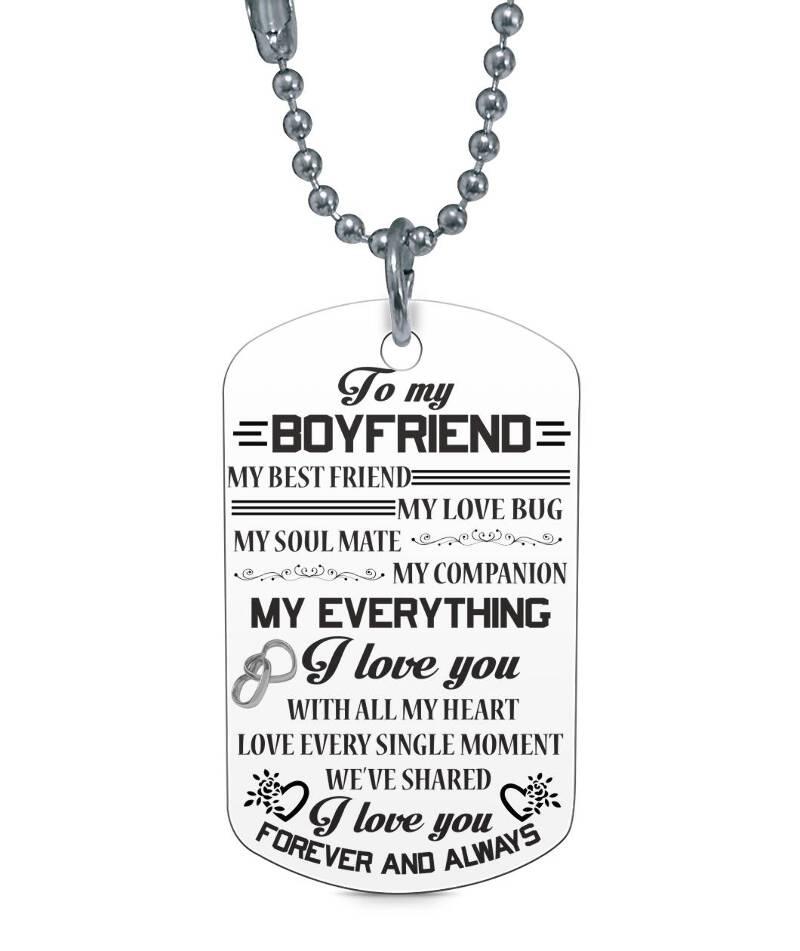 To My Boyfriend Best Friend Dog Tag Birthday Graduation Gift Military Air Force