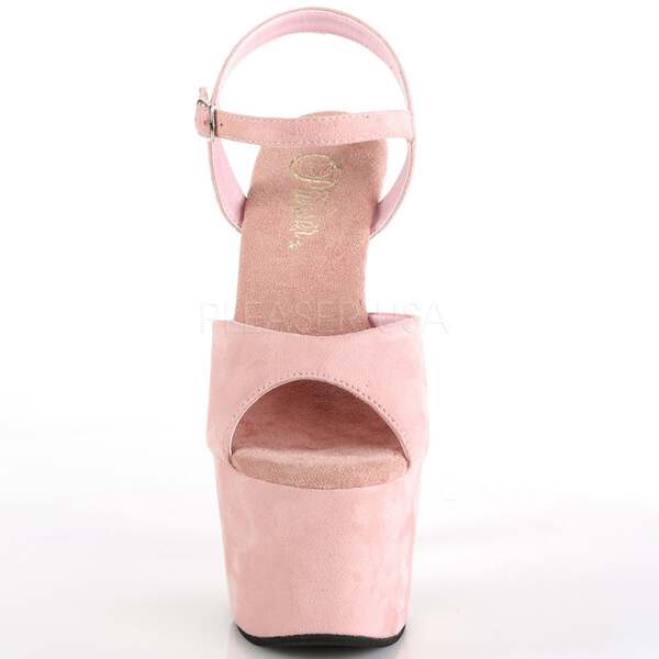 7f1e087d608 Details about Baby Pink Suede High Heels Ankle Strap Wrapped Platform  Stiletto Womens Sandals