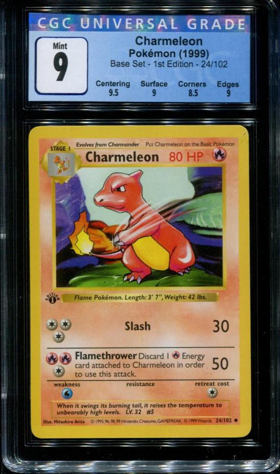 Charmeleon Pokemon Base Set 24//102Free combine ship!Great condition!