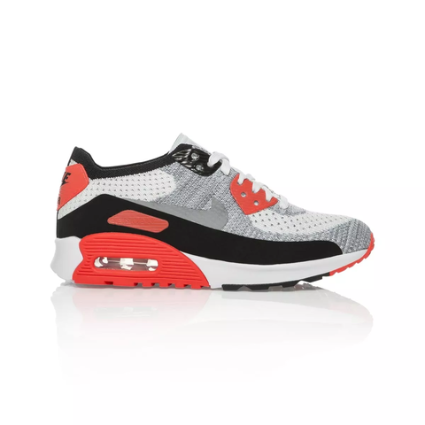 pretty nice 03b5f 4a233 Details about Nike Air Max 90 Ultra 2.0 Flyknit Women's shoe - White/Wolf  Grey/Bright Crimson/