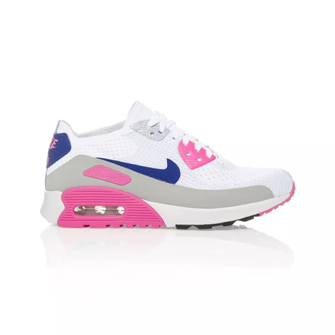 purchase cheap ec4e4 4a5f2 Details about Nike Air Max 90 Ultra 2.0 Flyknit Women's shoe -  White/Concord Laser Pink