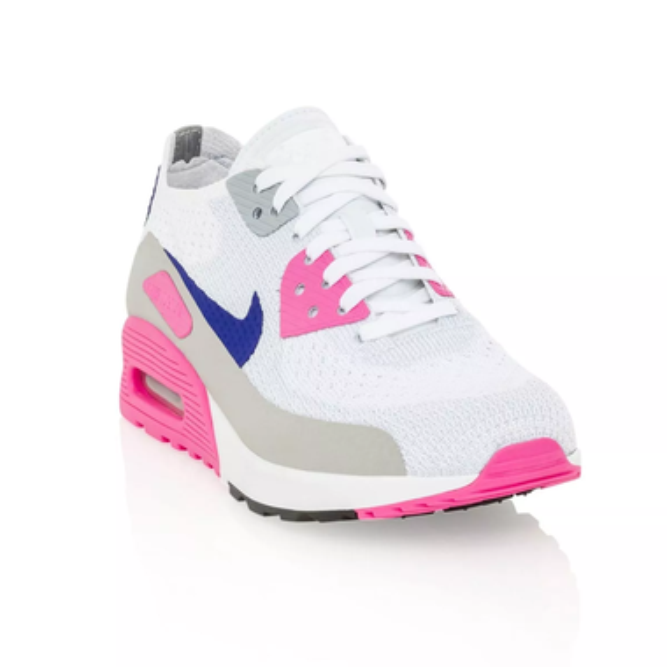 83b53e26b0f5 Nike Air Max 90 Ultra 2.0 Flyknit Women s shoe - White Concord Laser Pink